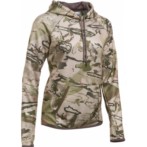 UNDER ARMOUR WOMENS ICON CAMO HOODIE