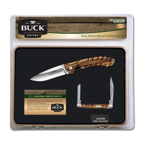 BUCK KNIVES NOBLEMAN AND DEUCE KNIFE COMBO