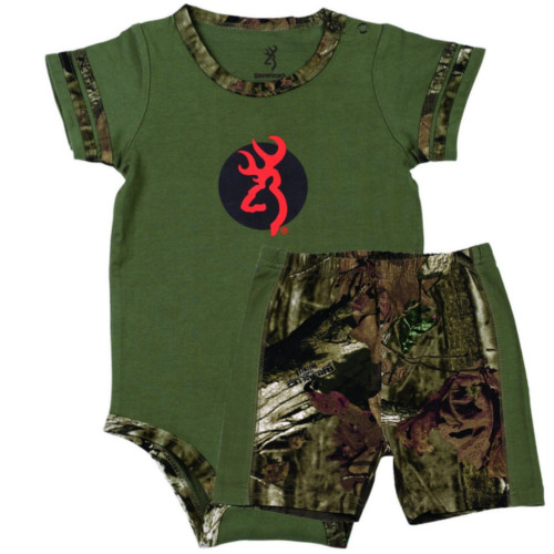 BROWNING BABY BEAR ONESIE AND SHORT SET