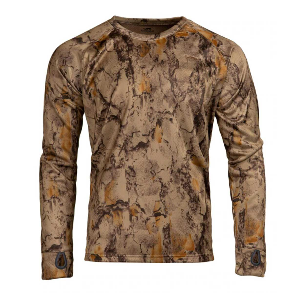 NATURAL GEAR FULL DRAW MID-WEIGHT GRID BACK FLEECE CREW TOP main photo.