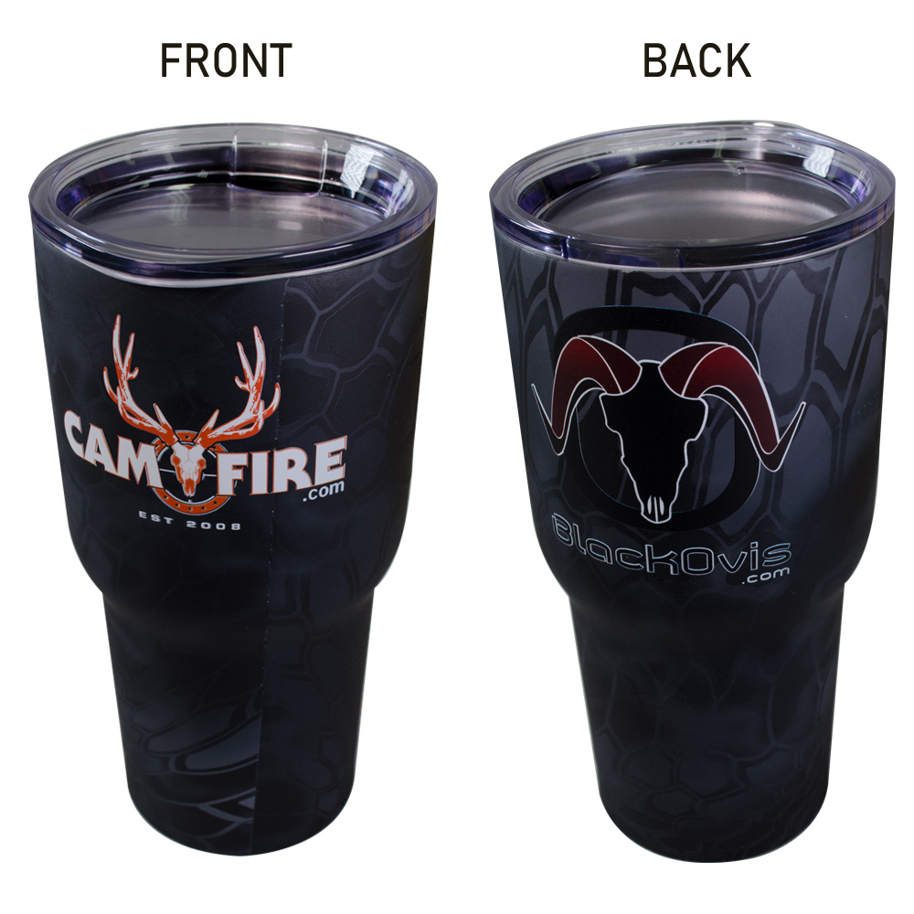 CAMOFIRE / BLACKOVIS LOGO INSULATED 30 OZ TUMBLER main photo.